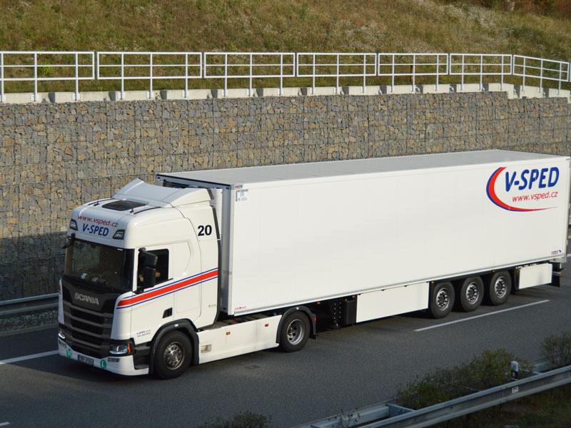 V-SPED - komplexní zajištění služeb pro přepravu zboží po celé Evropě